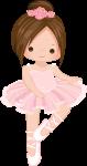 topo de bolo bailarina rosa 4