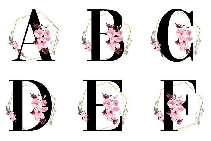 alfabeto personalizado glamour para imprimir