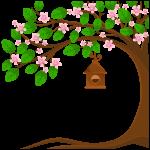 arvore jardim rosa