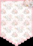 bandeirola cha de bebe rosa