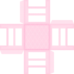 cadeira para docinhos casa de bonecas rosa 2