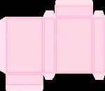caixa cama casa de bonecas rosa 1