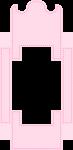 caixa cama casa de bonecas rosa 4
