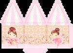 caixa carrossel bailarina rosa 2