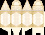 caixa com alca bodas de ouro