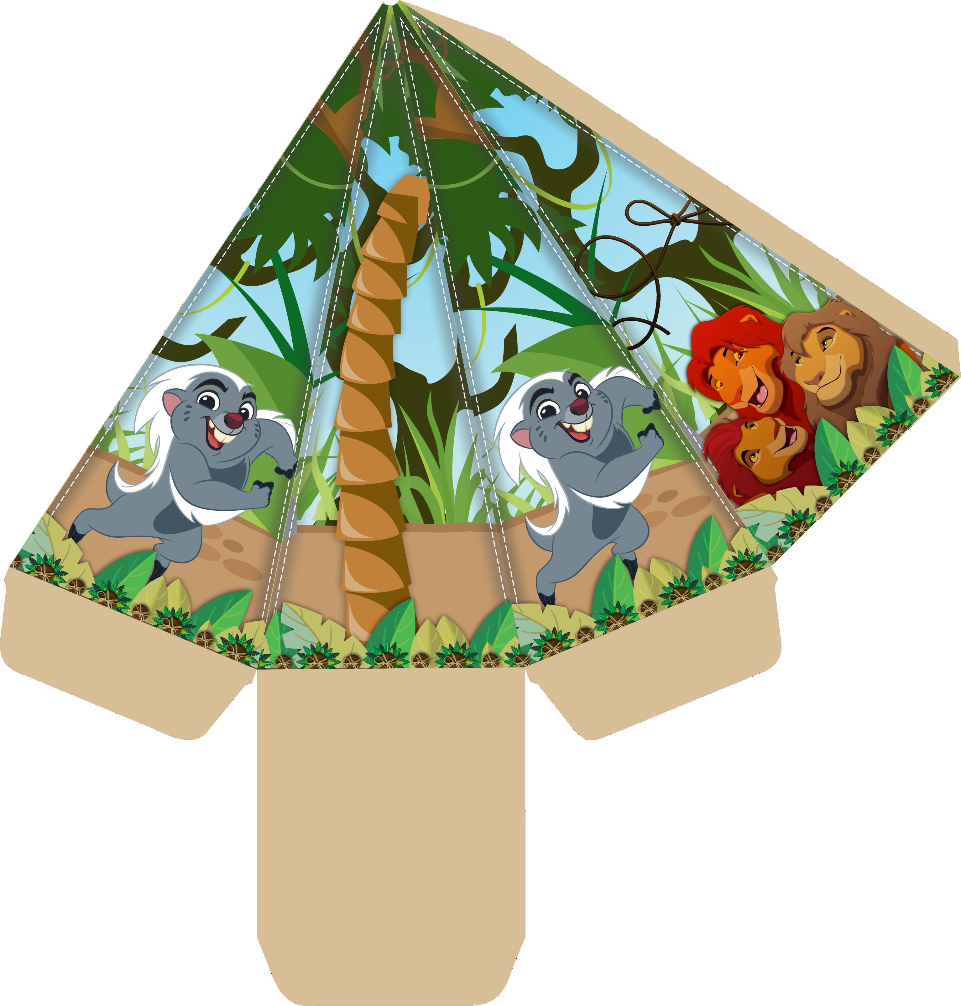 caixa cone guarda do leao