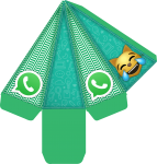 caixa cone redes sociais