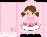 caixa guarda roupa casa de bonecas rosa 1