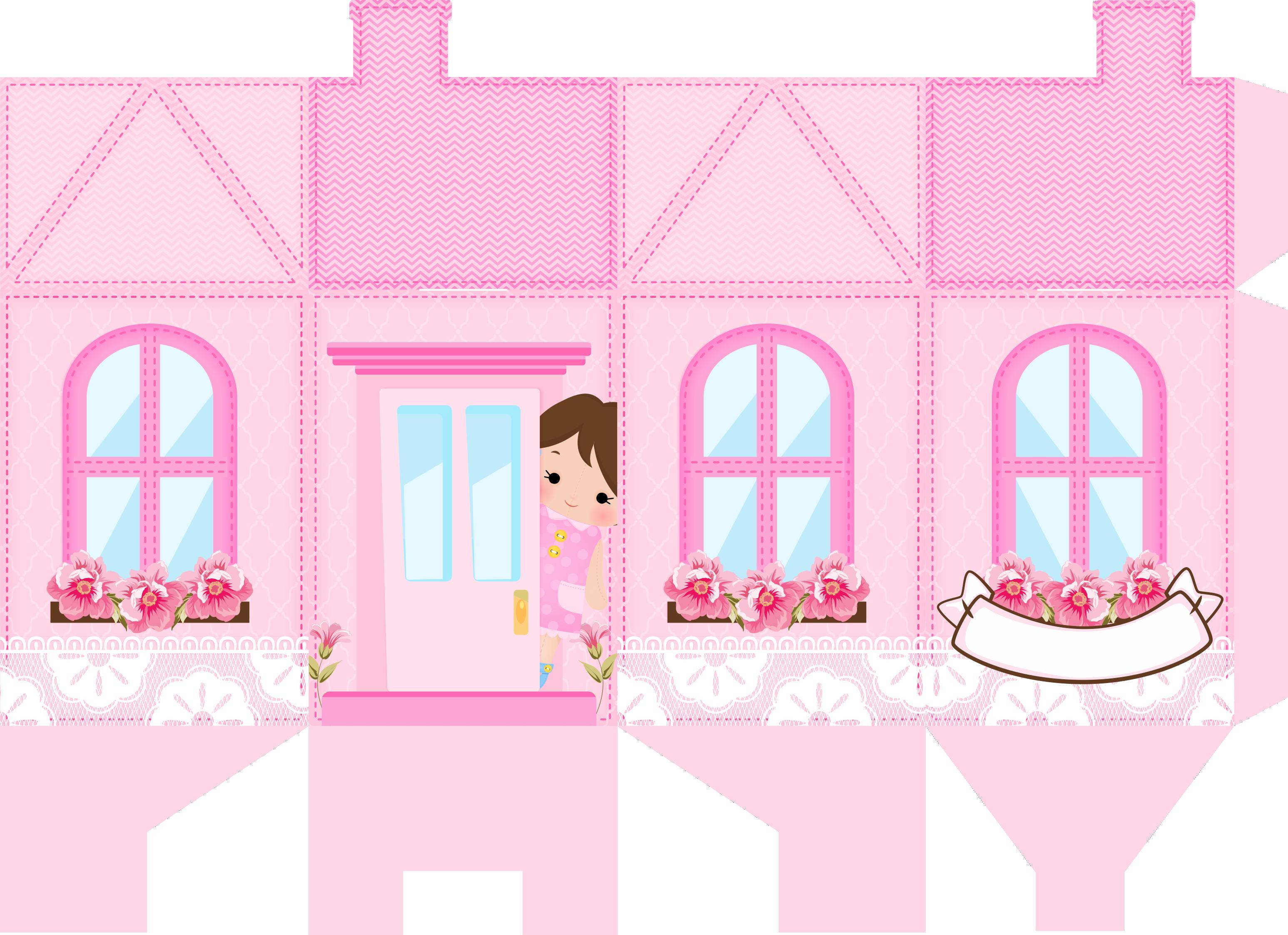 caixa milk casinha casa de bonecas rosa 1