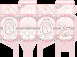caixa milk cha de bebe rosa