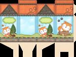 caixa milk raposinha menino