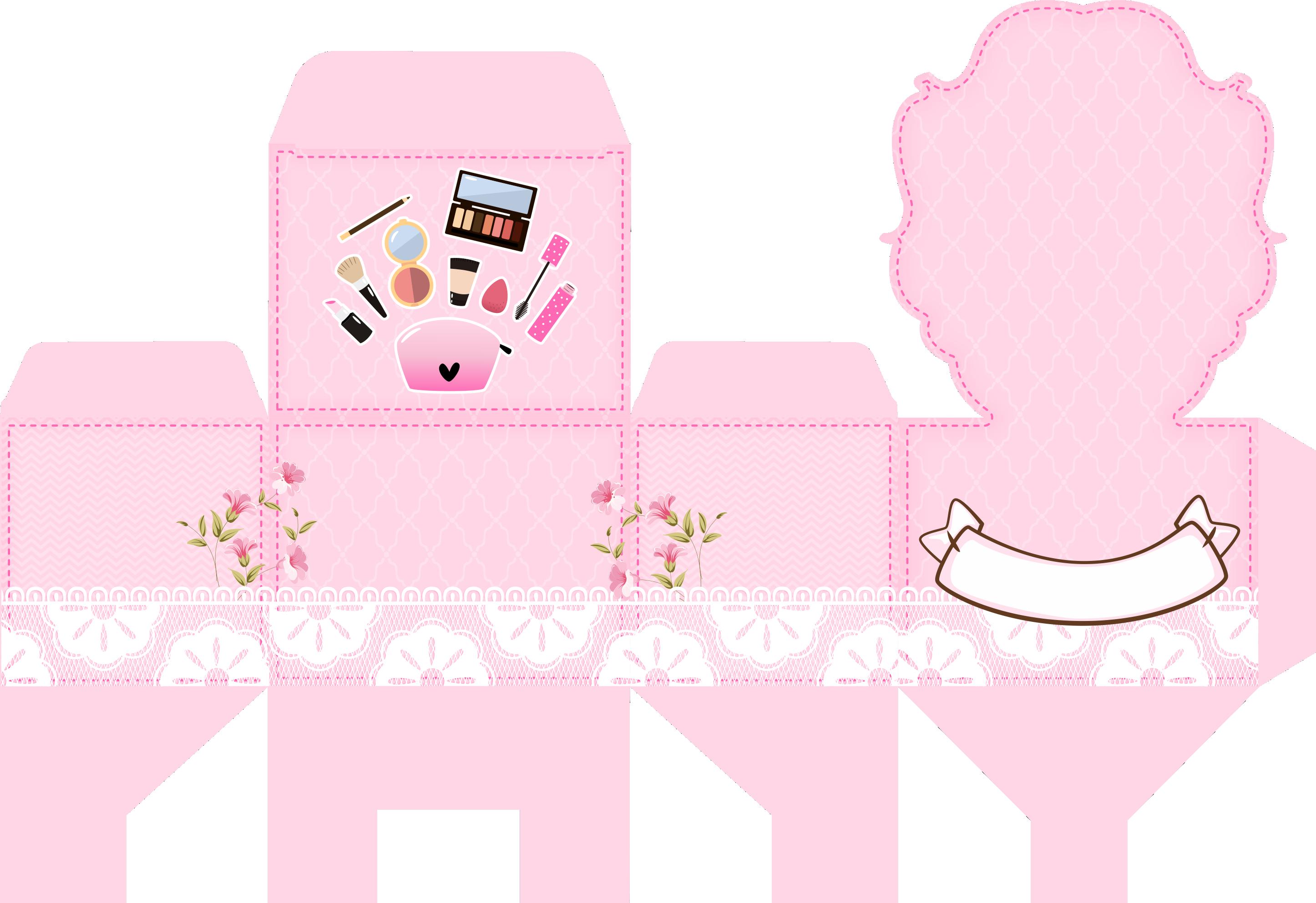 caixa penteadeira casa de bonecas rosa 1
