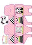caixa petala panda menina