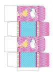 caixa quadrada pool party azul e rosa