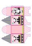 caixa retangular panda menina