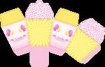 caixa sushi bailarina circo rosa 1