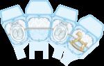 caixa sushi cha de bebe azul