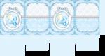 caixa visor cha de bebe azul