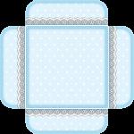 caixa visor tampa cha de bebe azul