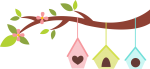 casinhas jardim rosa