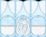 centro de mesa cha de bebe azul