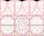 centro de mesa cha de bebe rosa