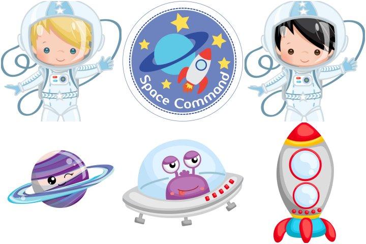 elementos festa astronauta menino para imprimir