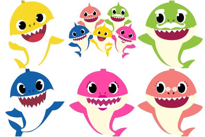 elementos festa baby shark para imprimir