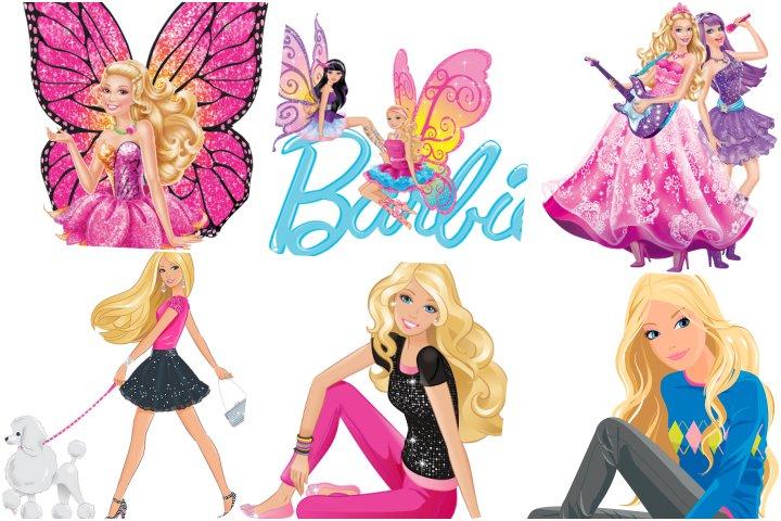 elementos festa barbie para imprimir