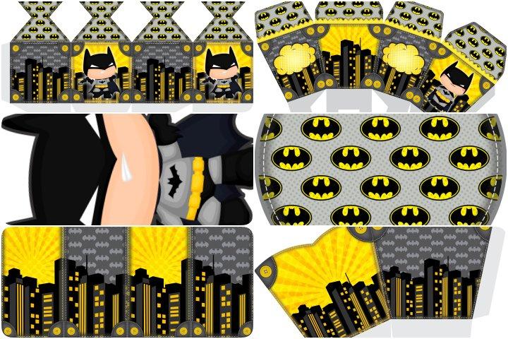 kit festa batman cute para imprimir