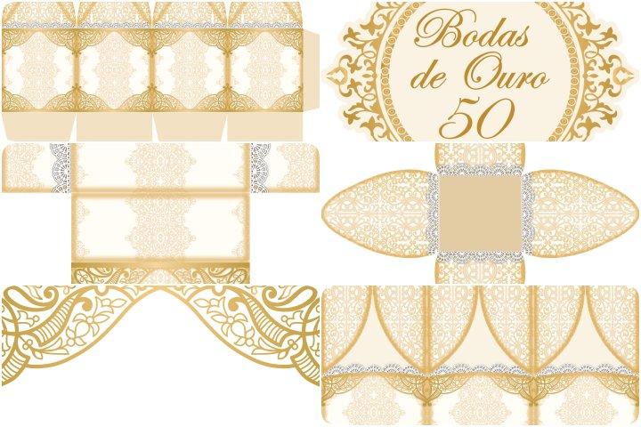 kit festa bodas de ouro para imprimir
