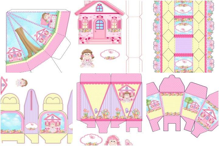 kit festa casa de bonecas para imprimir