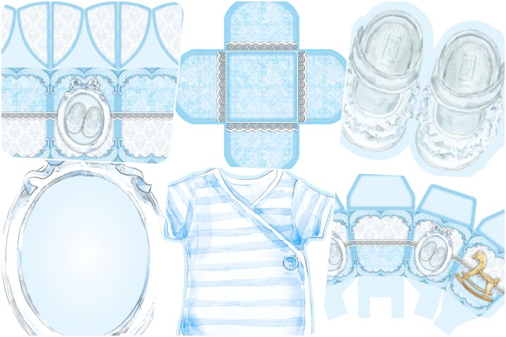 kit festa cha de bebe azul para imprimir