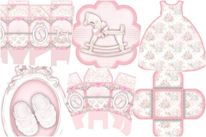 kit festa cha de bebe rosa para imprimir
