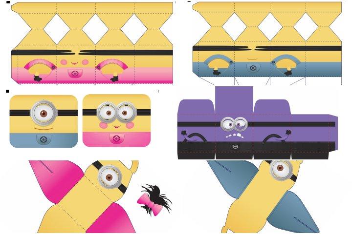 kit festa minions menino e menina para imprimir