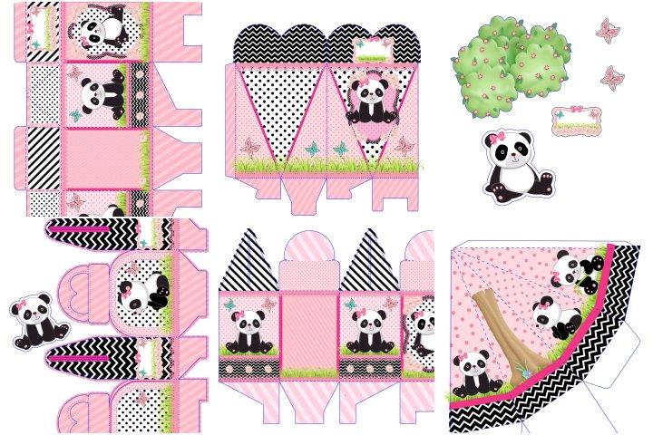 kit festa panda menina para imprimir
