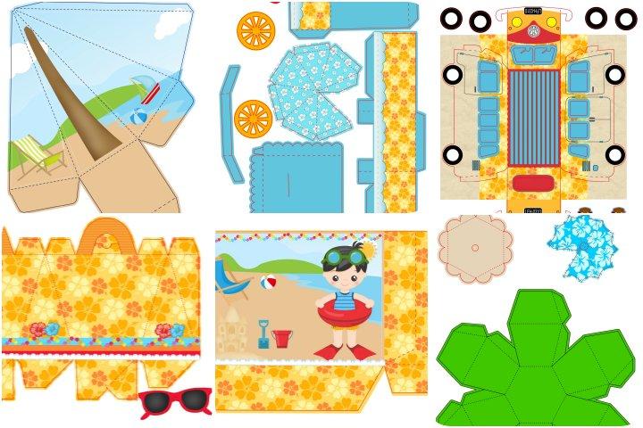 kit festa praia para imprimir