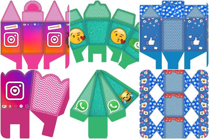 kit festa redes sociais para imprimir