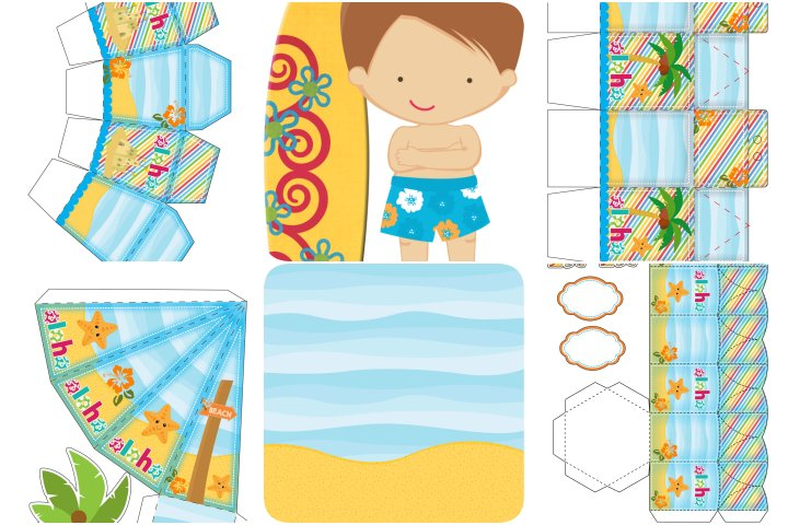 kit festa surfe para imprimir