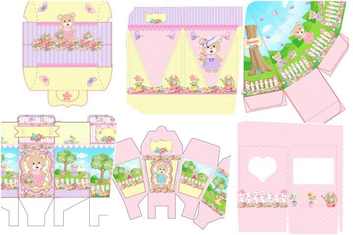 kit festa ursinha floral para imprimir