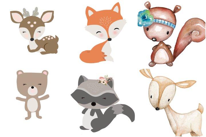 papeis elementos animais bosque para imprimir