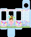 porta tubete bailarina circo rosa 1