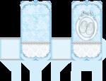 sacolinha cha de bebe azul