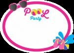 topo de bolo pool party azul e rosa 1