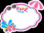 topo de bolo pool party azul e rosa 2