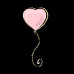 balao coracao rosa