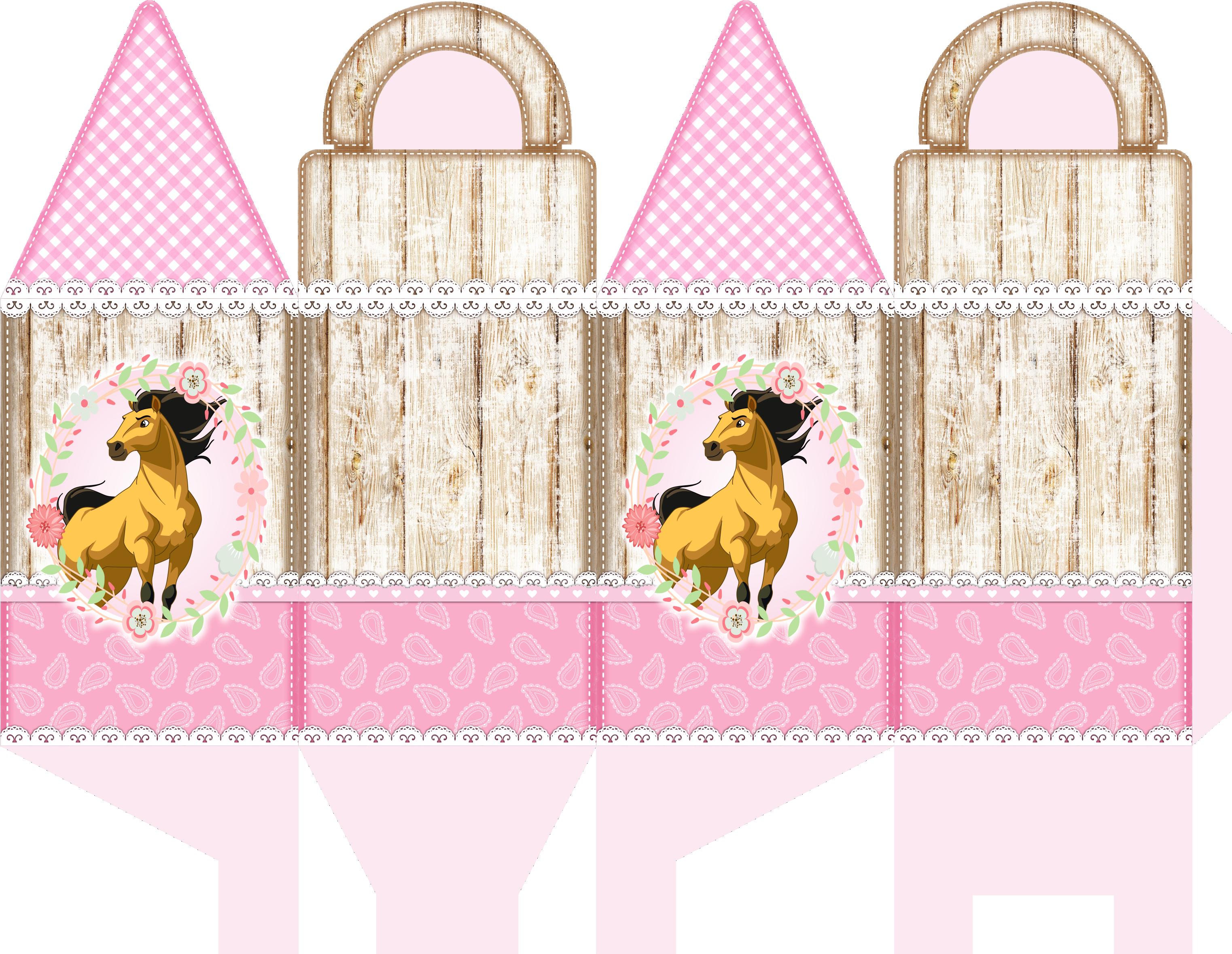 caixa com alca spirit rosa