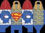 caixa com alca superman cute