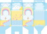 caixa milk chuva de amor menina