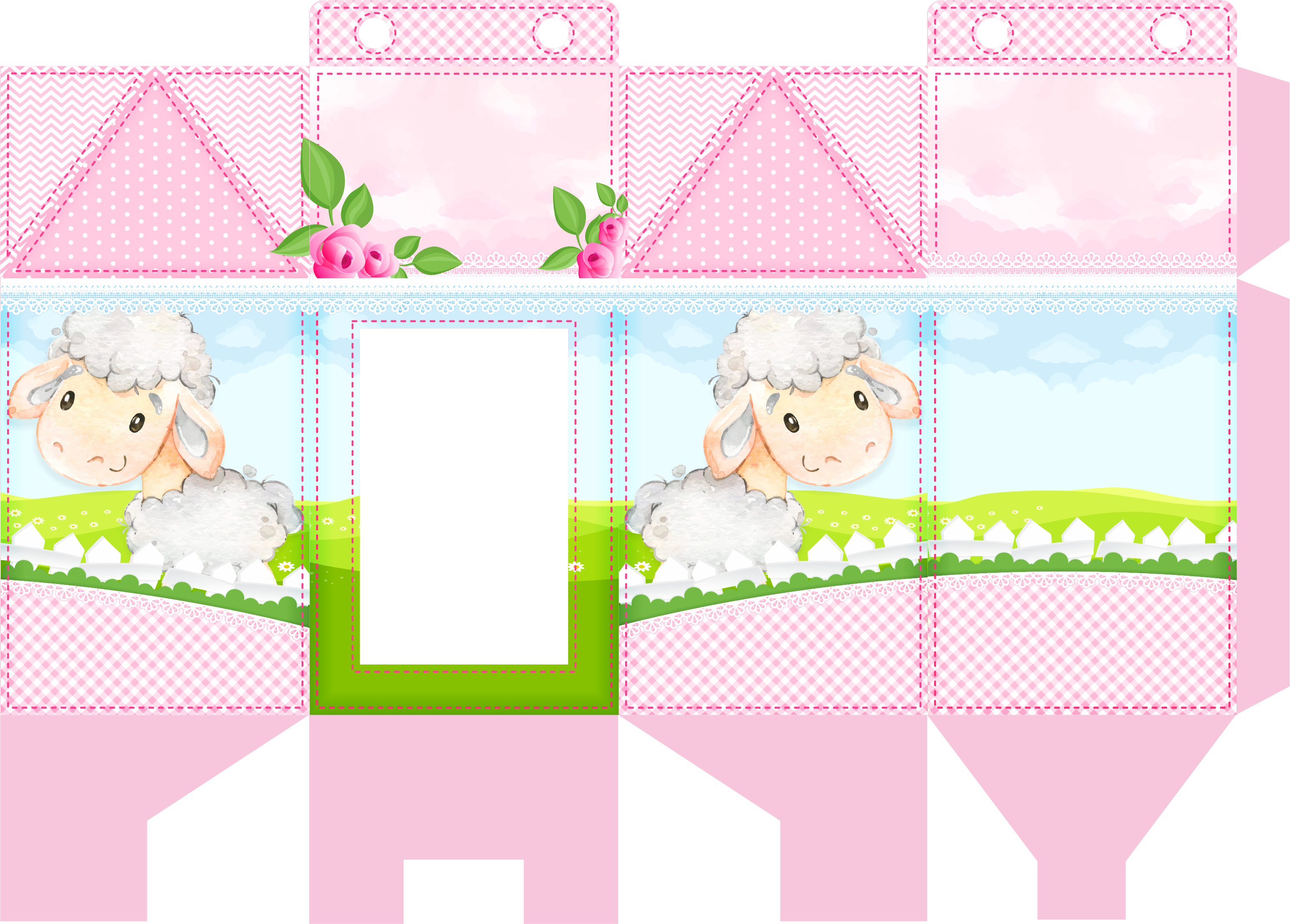 caixa milk ovelinha rosa 1
